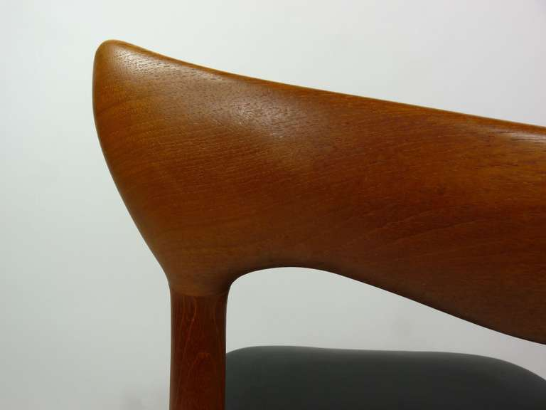 Set of Eight Teak Danish Dining Chairs by H. W. Klein For Sale 4