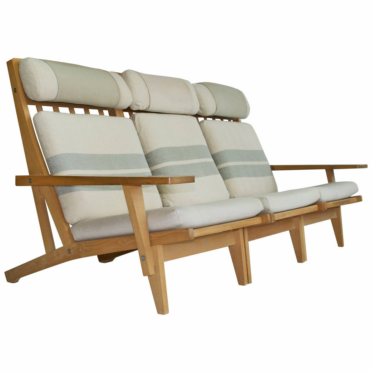 Wide Arm Three Seat Sofa By Hans Wegner At 1stdibs