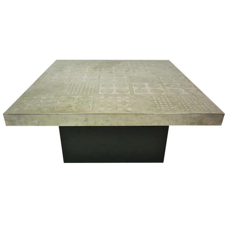 Etched Metal Coffee Table By Heinz Lilienthal 1