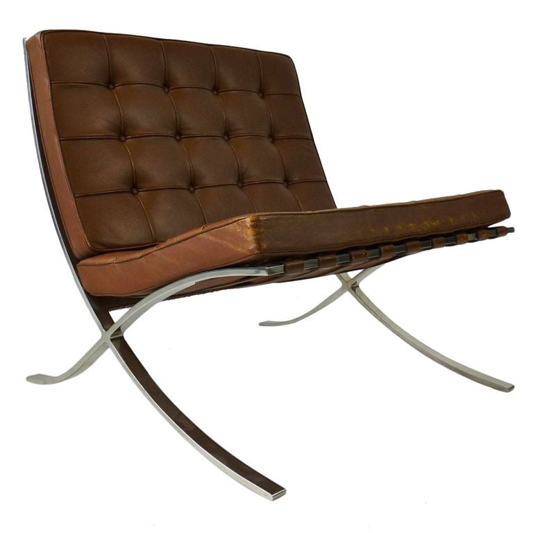 mies van der rohe for knoll barcelona chair at 1stdibs. Black Bedroom Furniture Sets. Home Design Ideas