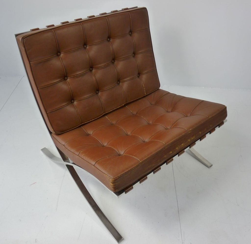 Barcelona chair brown - Mies Van Der Rohe For Knoll Barcelona Chair 3