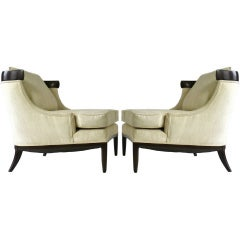Pair Of Elegant Lounge Chairs By Erwin Lambeth For Tomlinson