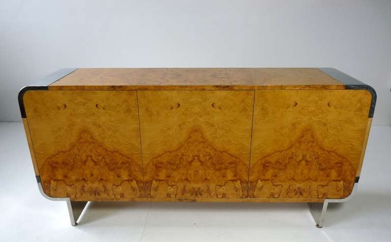 Pace Collection Burl Wood Cabinet At 1stdibs