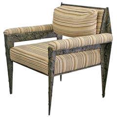 Paul Evans Unique Sculpted Bronze Chair