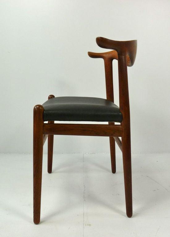 Hans Wegner Cow Horn Chair At 1stdibs