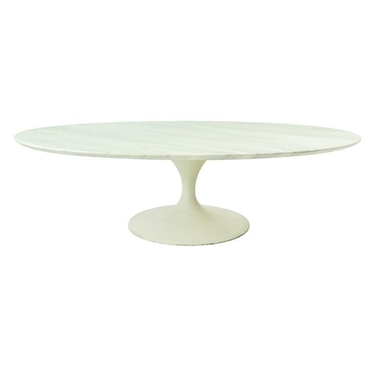 Eero Saarinen For Knoll Marble Top Coffee Table At 1stdibs