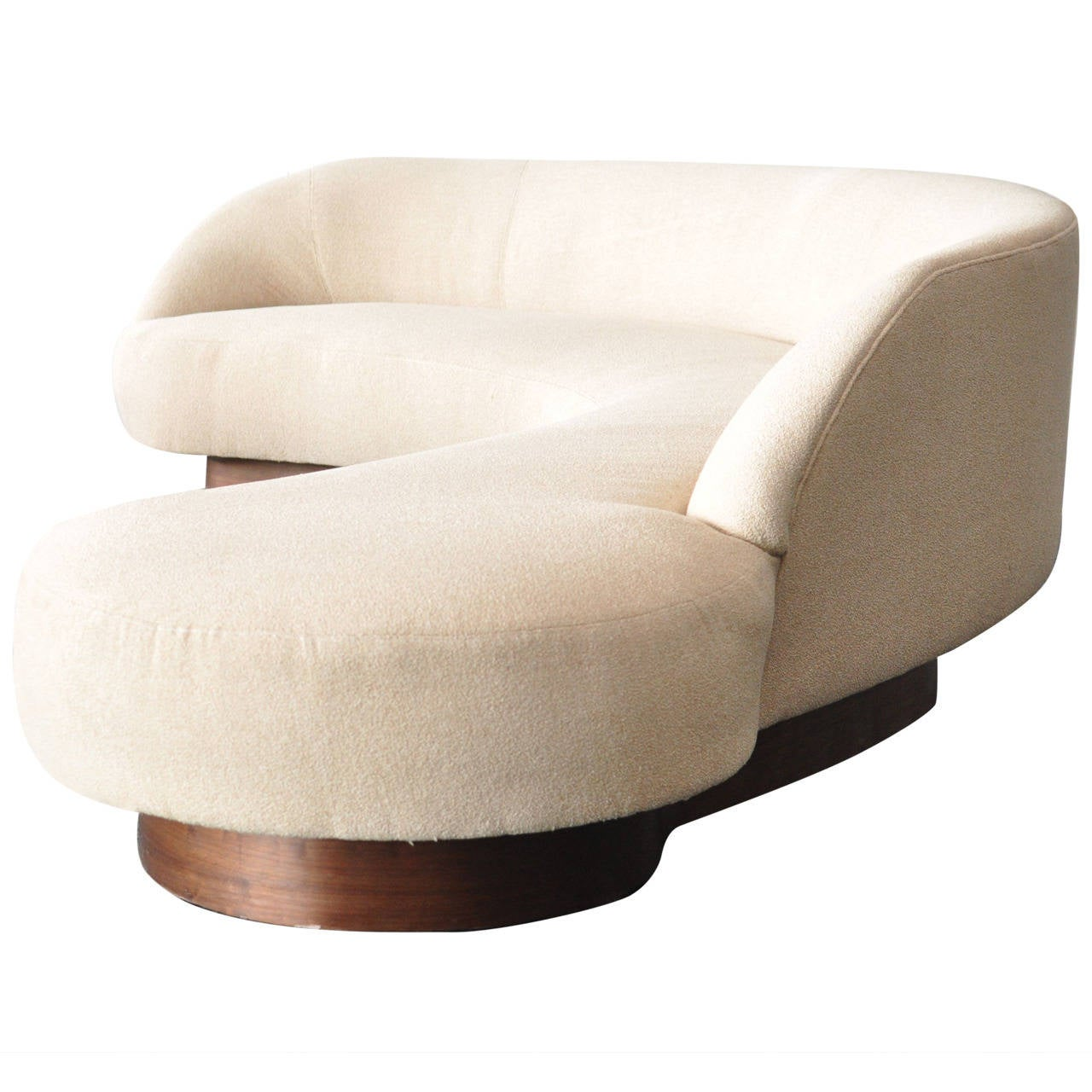 Large Serpentine Sofa by Vladimir Kagan for Directional 1