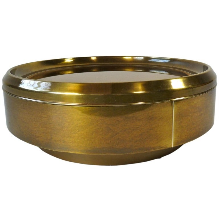 Mastercraft Brass And Mirror Coffee Table