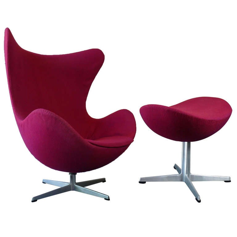 this arne jacobsen egg chair and ottoman for fritz hansen is no longer. Black Bedroom Furniture Sets. Home Design Ideas