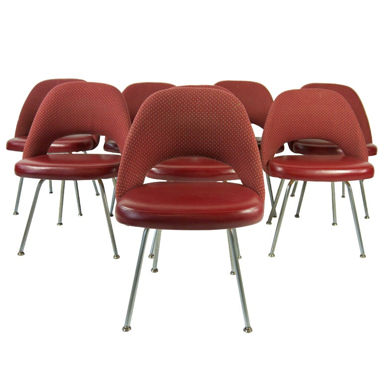 Set Eight Vintage Eero Saarinen Chairs For Knoll at 1stdibs