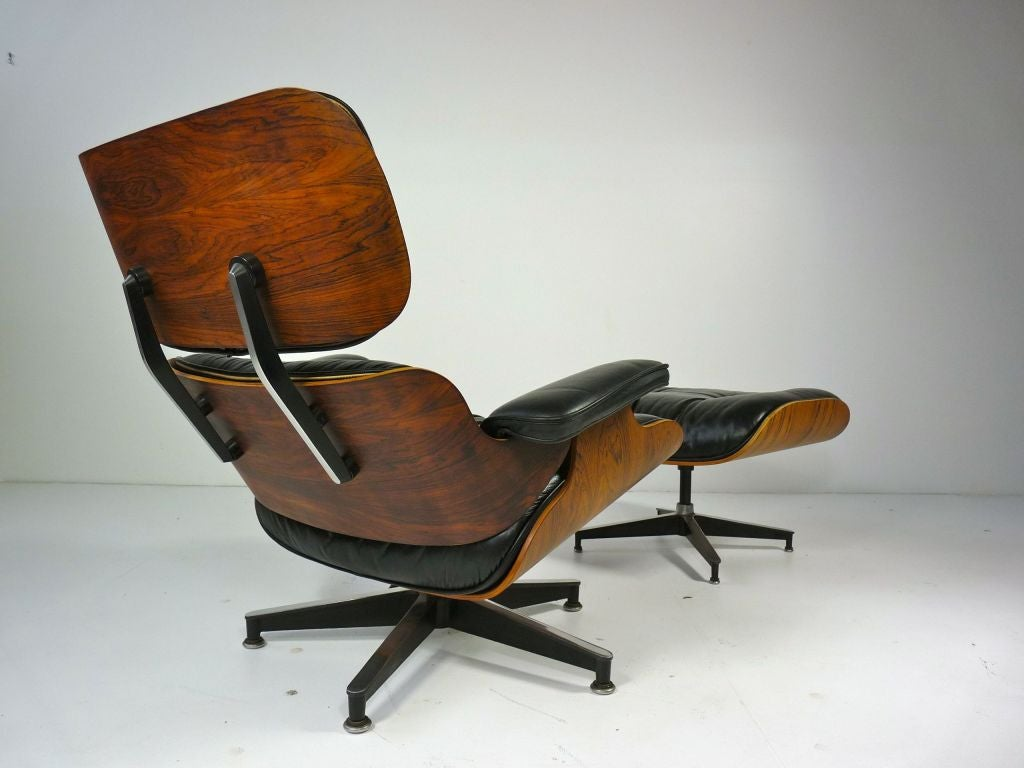 rosewood eames lounge chair and ottoman at 1stdibs