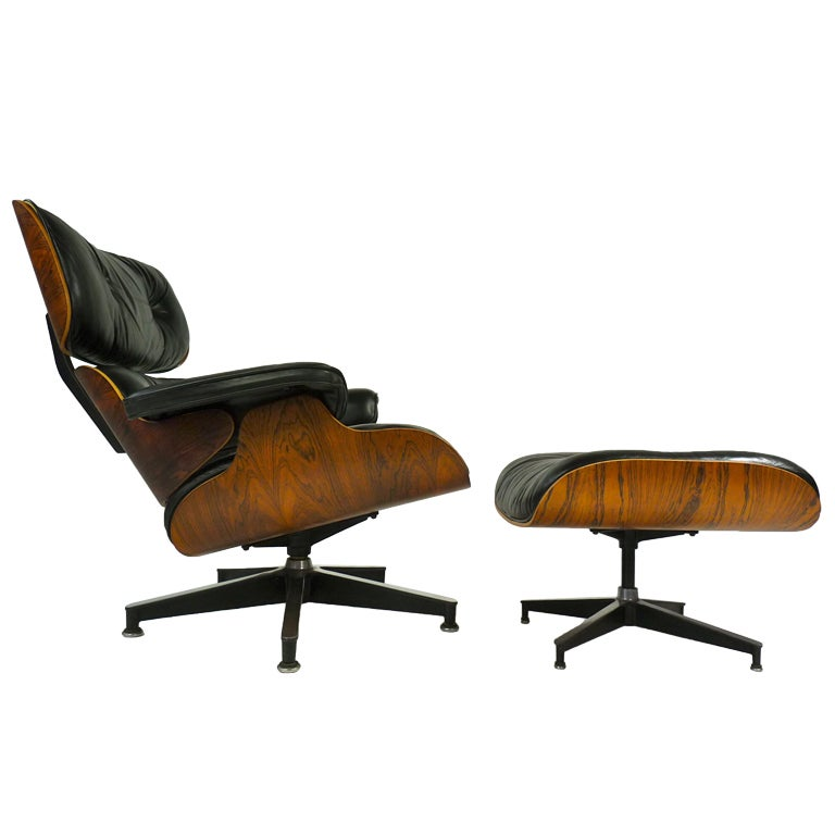 Rosewood eames lounge chair and ottoman at 1stdibs - Eames lounge chair prix ...