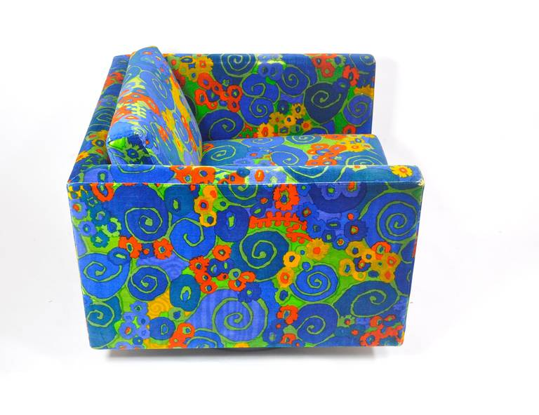 American Harvey Probber Swivel Cube Lounge Chair For Sale