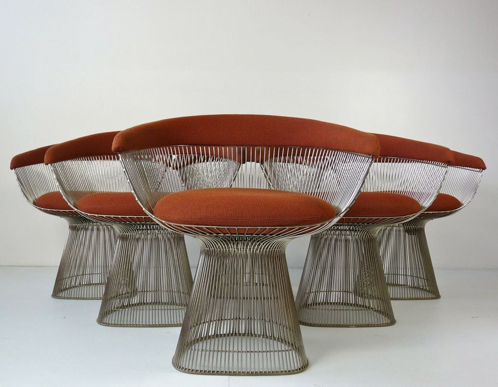 Set of Six Warren Platner Chairs for Knoll at 1stdibs