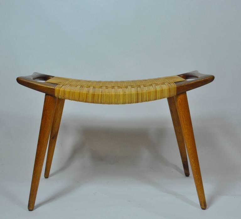 hans wegner cane stool for sale at 1stdibs. Black Bedroom Furniture Sets. Home Design Ideas