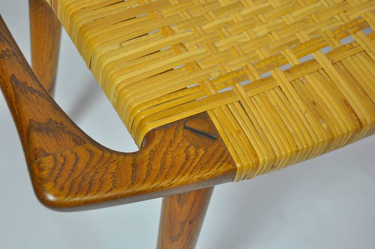Hans Wegner Cane Stool In Excellent Condition For Sale In Pelham, MA