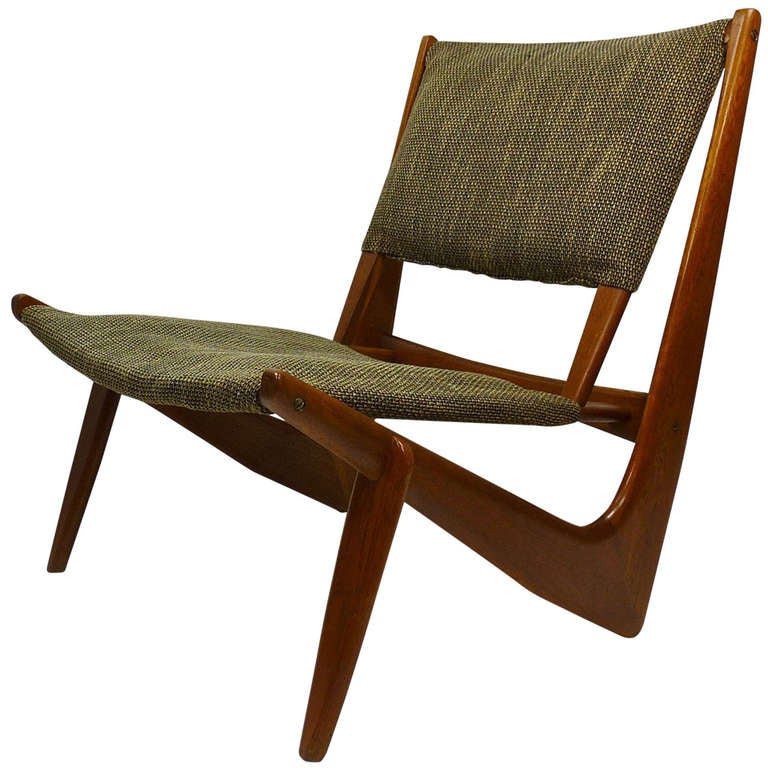Sculptural Low Lounge Chair at 1stdibs