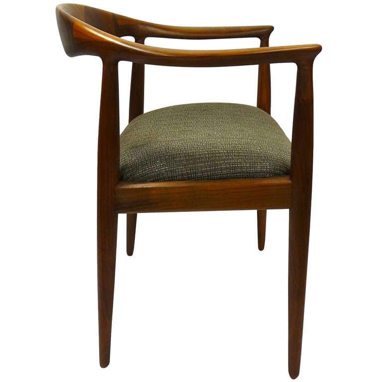 Sculptural Danish Arm Chair
