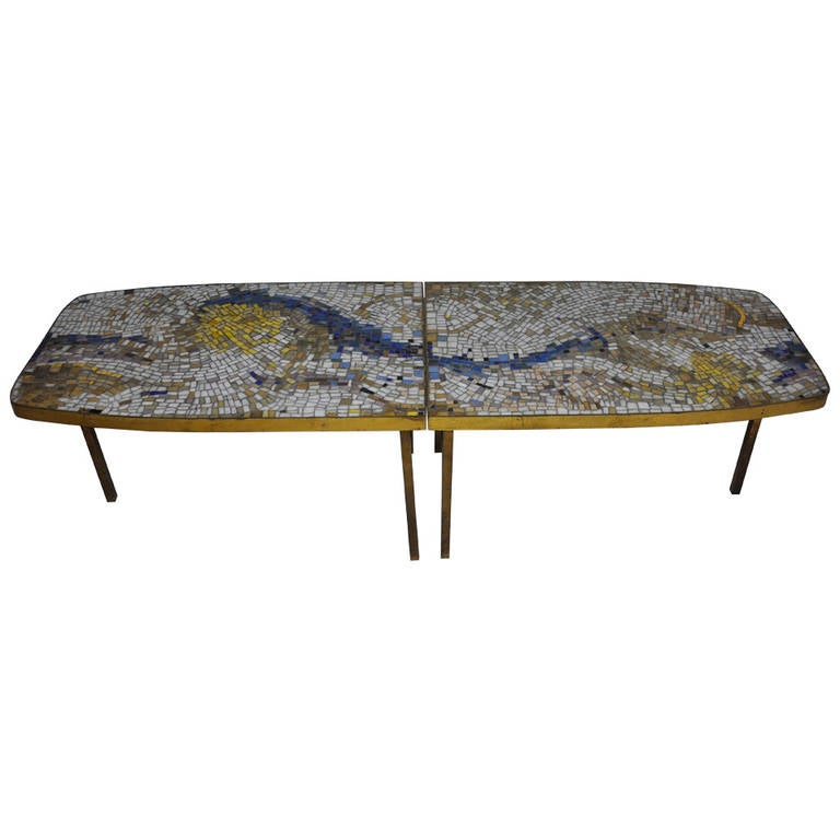 Mosaic Tile Top Coffee Tables At 1stdibs
