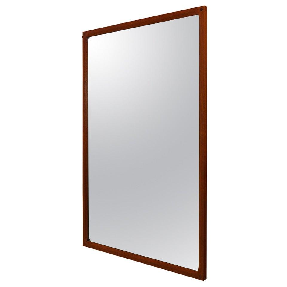 Danish Teak Mirror by Aksel Kjersgaard For Sale