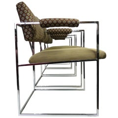 Milo Baughman Chrome Frame Chairs