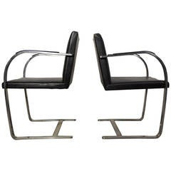 Vintage Pair of Knoll Brno Chairs