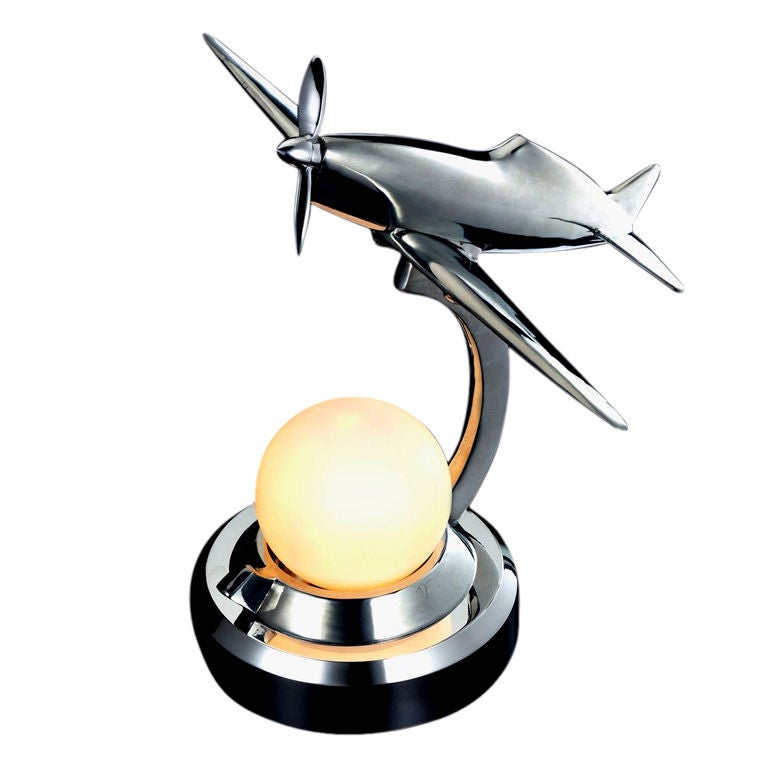 Caudron Racing Airplane Desk Light At 1stdibs