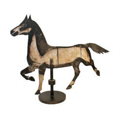 Gigantic Black and White Weathervane Horse