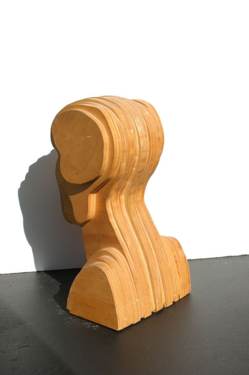 Abstract Folk Art Plywood Bust For Sale At 1stdibs