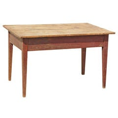 19th Century American Walnut Farm Table