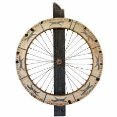 c. 1930's Carnival Greyhound Racing Dog Game Wheel