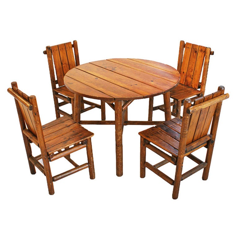 Table And Chair For Sale: American Camp Lodge Table And Chairs For Sale At 1stdibs