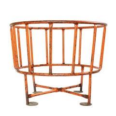 Orange Goat Feeder Table Base