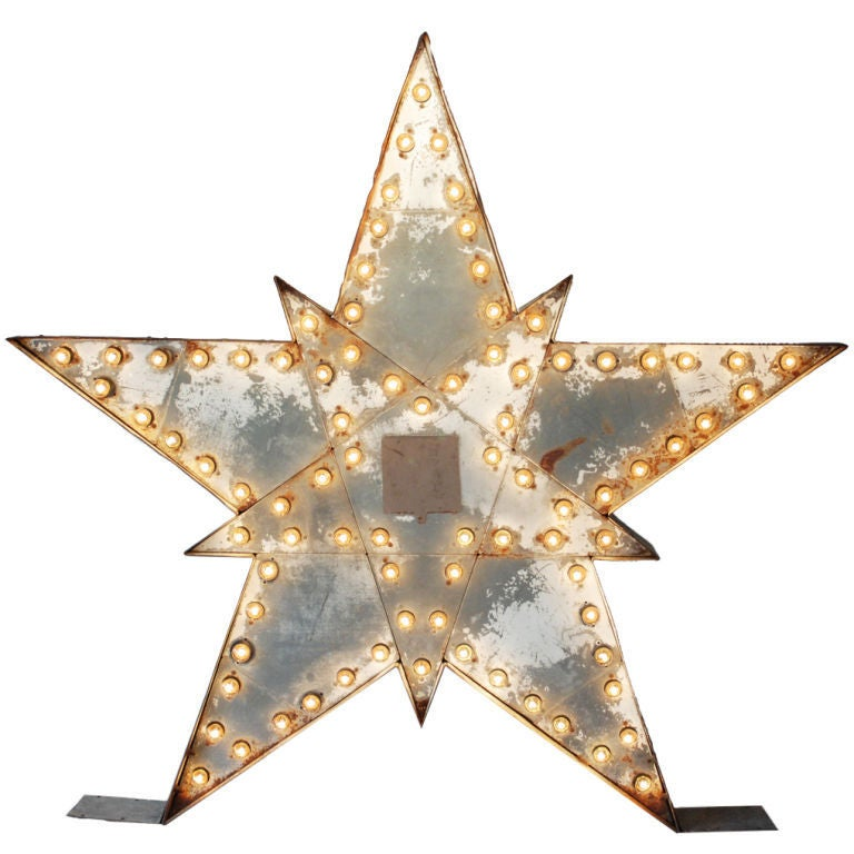 Massive Lighted Roadside Star Sign