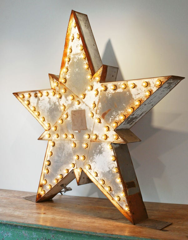 Massive Lighted Roadside Star Sign 2