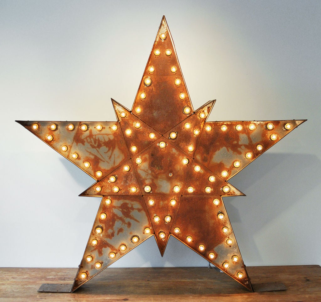 Massive Lighted Roadside Star Sign 6