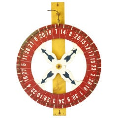 c. 1930's Carnival Midway Game Wheel
