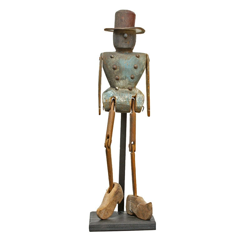 Expressive Late 19th Century Articulated Figure at 1stdibs