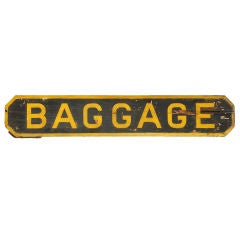 Railroad Station 'Baggage' Sign, circa 1900