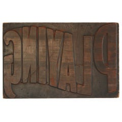 Original 'Playing' Wood Carved Circus Letterpress