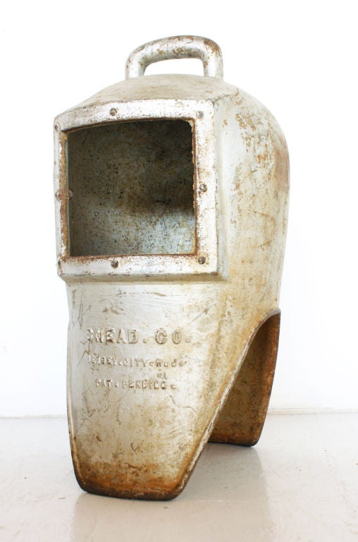 Cast Iron Diver's Helmet, circa 1900s 3