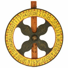 Large c. 1930's Carnival Midway Game Wheel
