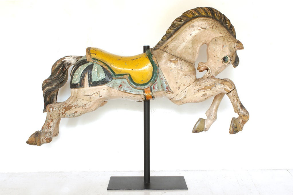 Carousel Horse Hand Carved Early 20th Century 2