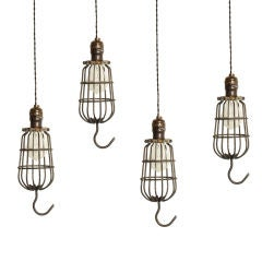 Vintage Industrial Cage Trouble Light Pendant