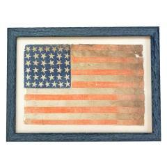 c. 1877- 1890 38 Star American Flag