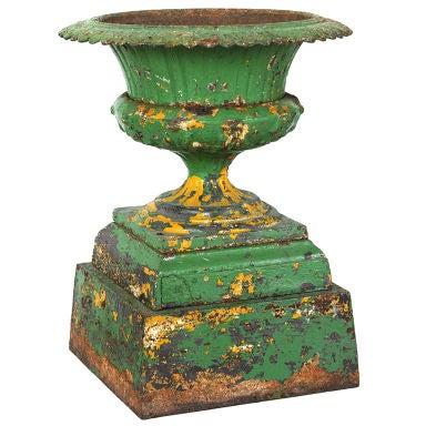 Late 19th Century Five Piece Cast Iron Urn