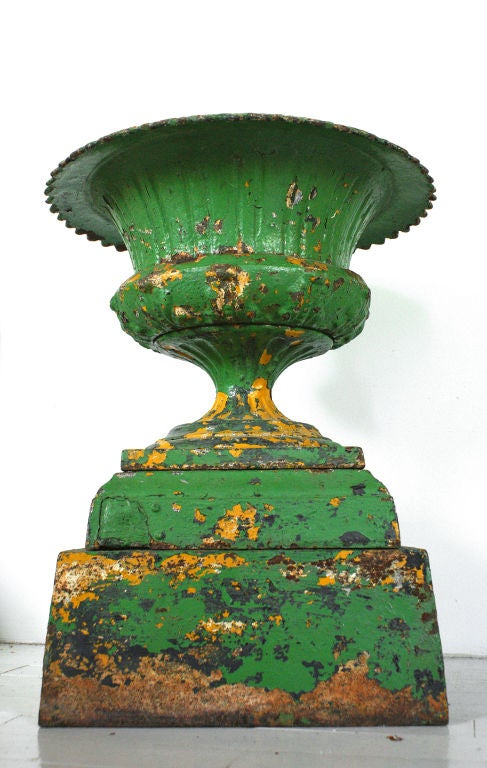 Late 19th Century Five Piece Cast Iron Urn 2