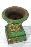 Late 19th Century Five Piece Cast Iron Urn image 3