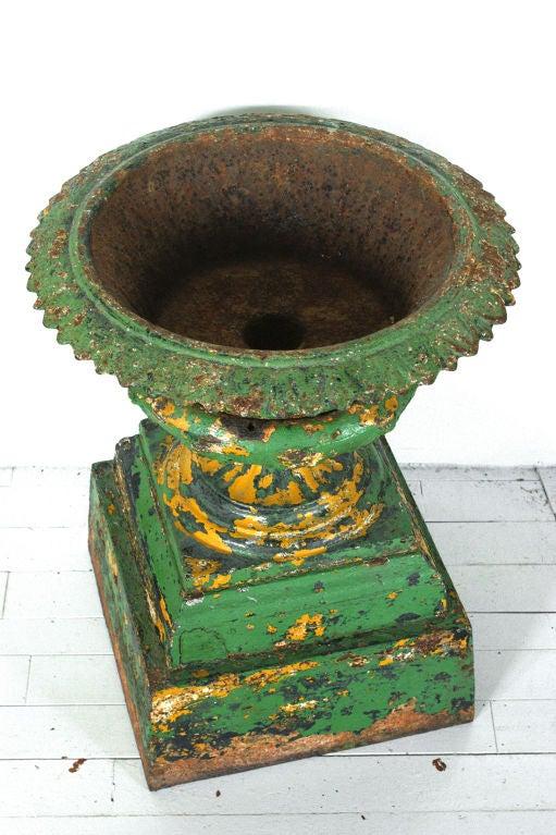 Late 19th Century Five Piece Cast Iron Urn 3