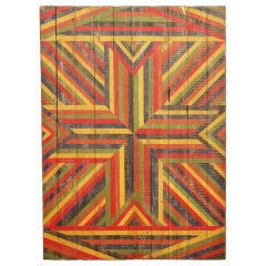Anonymous Abstract Geometric Painted Board